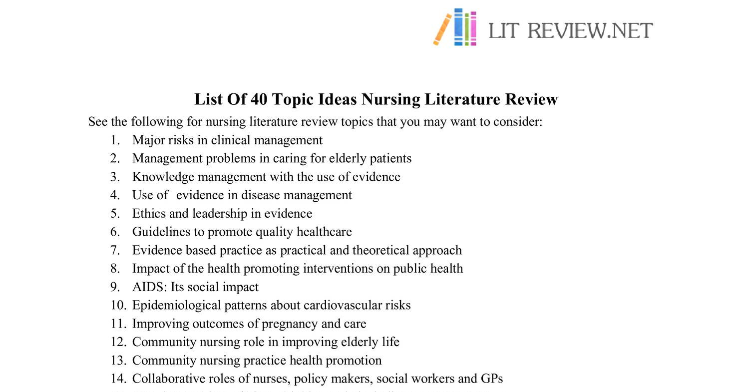 pay to get nursing literature review
