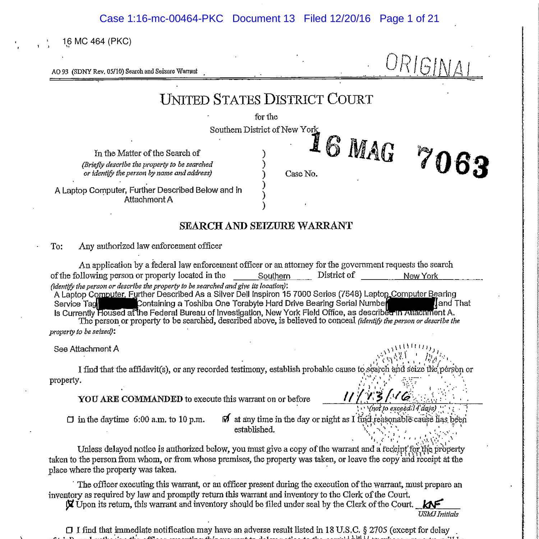 FBI Search warrant pdf | DocDroid