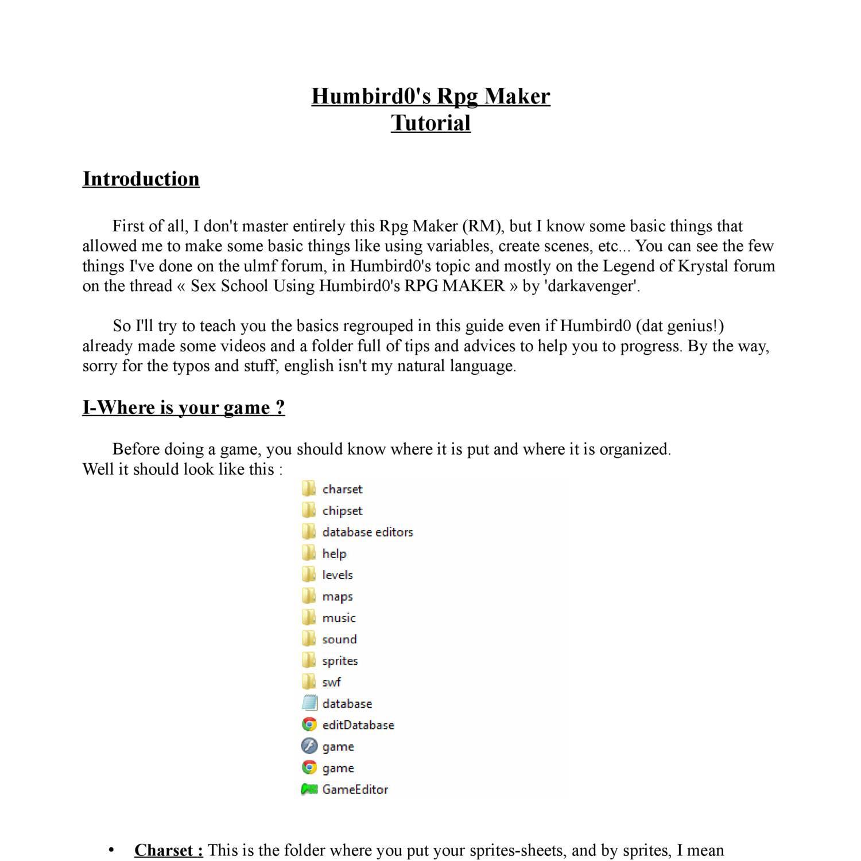 Humbird0 Games Cool tuto.pdf - docdroid
