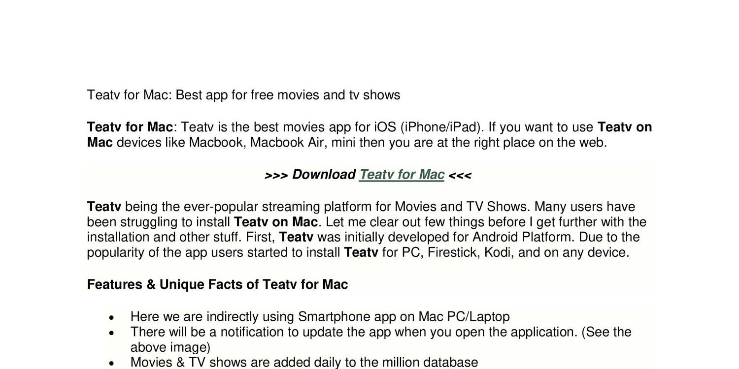 best free movie and tv app for ipad