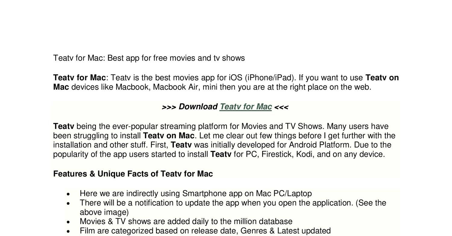 free movie and tv shows app for iphone