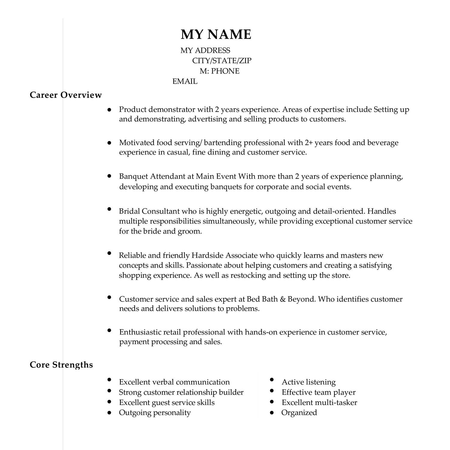 Anonymized Resume Pdf Docdroid