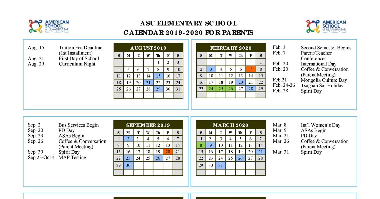 Asu Fall 2020 Calendar ES Calendar 2019 2020 (Parents).pdf | DocDroid