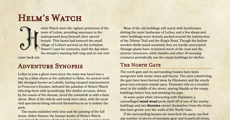 Helm's Watch pdf | DocDroid