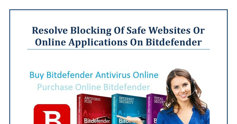 Bitdefender Blocking Websites
