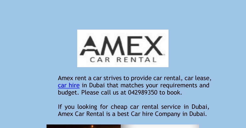 Car Rental On A Budget Budget Car Rental In Dubai Pdf