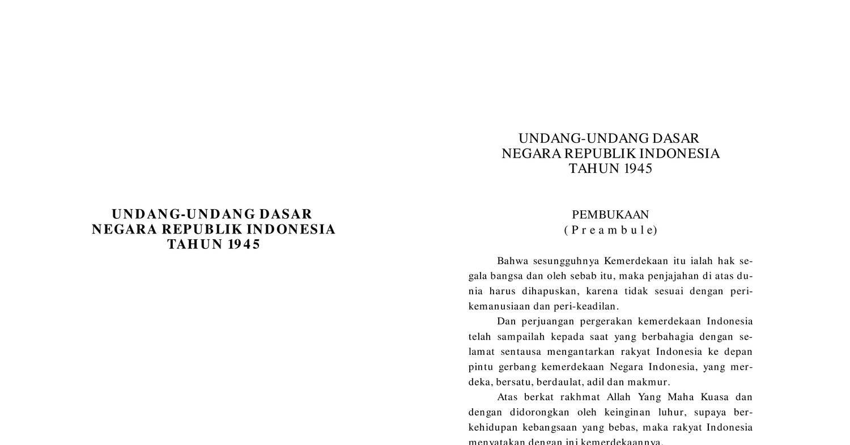 Terbaru pdf 1945 uud