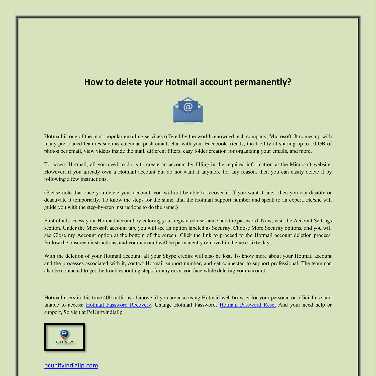 Hotmail Password Recovery pdf | DocDroid