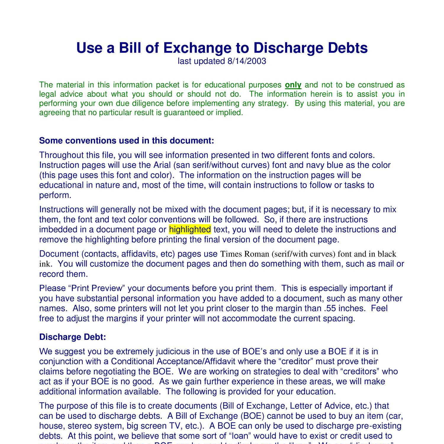 Use a bill of exchange to discharge debtspdf docdroid thecheapjerseys Gallery