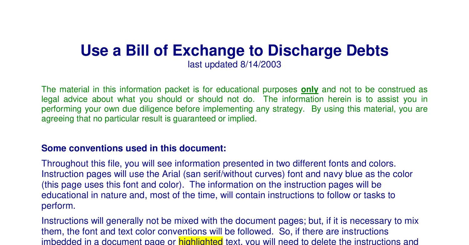 Use a bill of exchange to discharge debtspdf docdroid thecheapjerseys Image collections