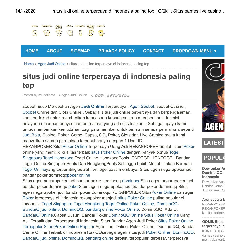 judi online terpercaya indonesia