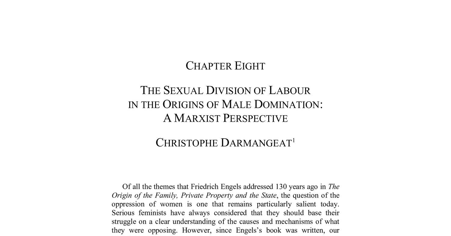 Sexual Division Of Labour