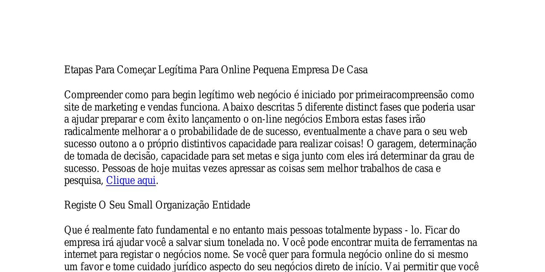 formula negócio online o que é