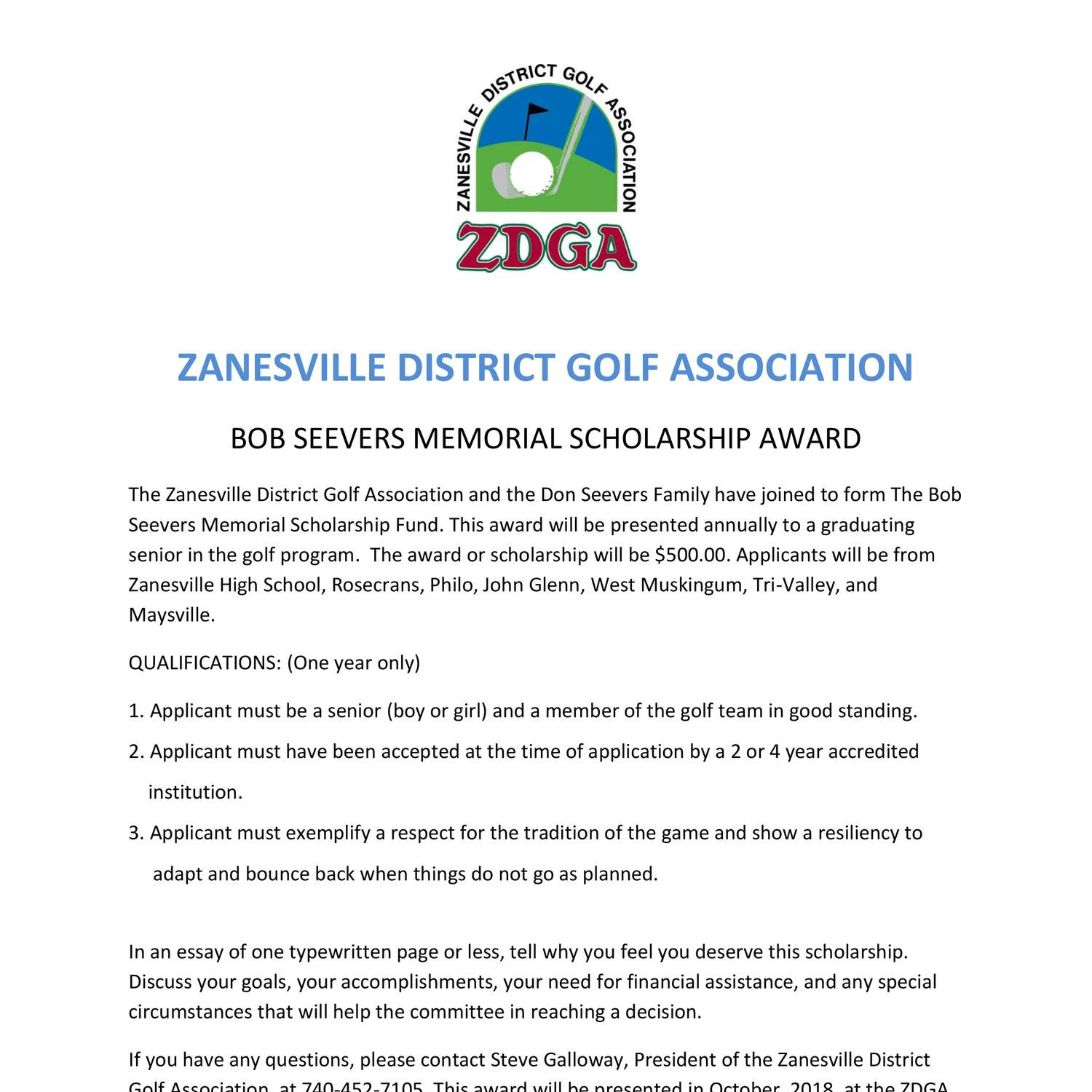 ZDGA Scholarship Fund Application Letter Seevers.pdf   DocDroid