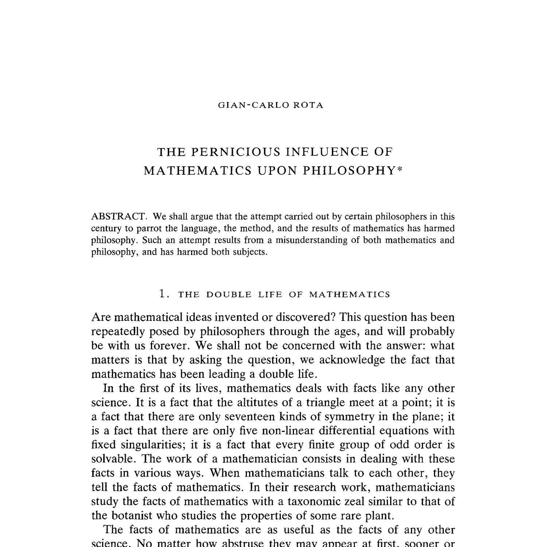colyvan philosophy of mathematics pdf