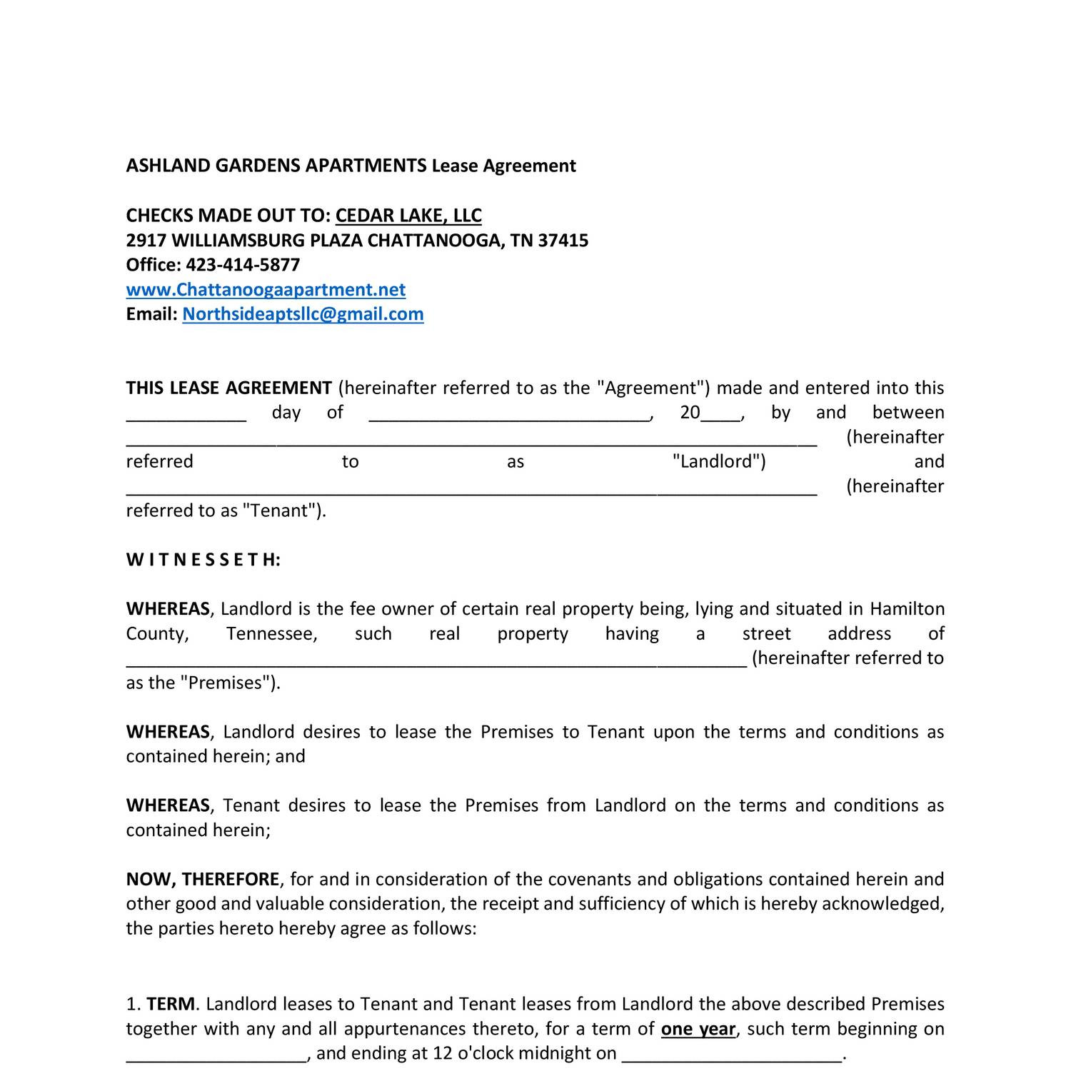 Ashland Gardens Apartment Lease Agreement Mainpdf Docdroid