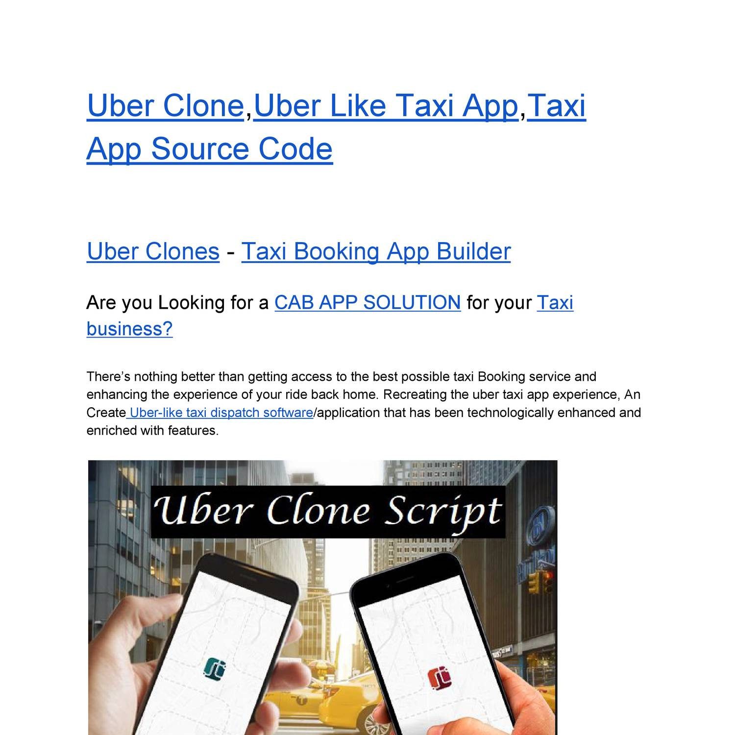 Uber Clone,Uber Like Taxi App,Taxi App Source Code pdf | DocDroid