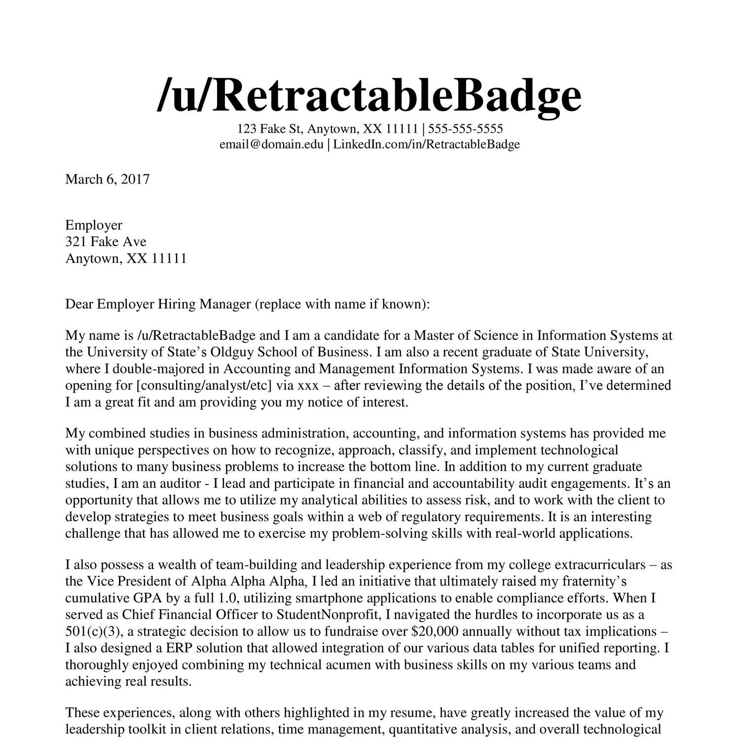 Cover Letter Reddit Cscareerquestions July 2021