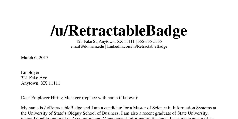 Reddit Cover Letter Critiquepdf