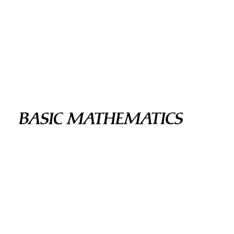 Serge lang basic mathematics download