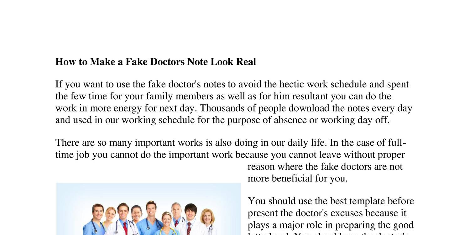 real doctor notes