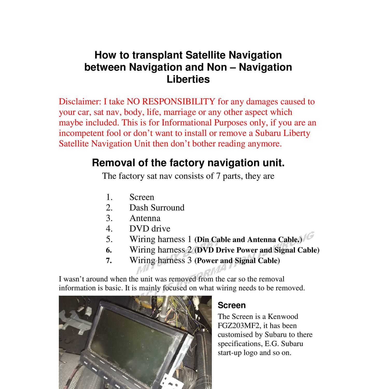 Factory SATNAV Tutorial 7 10 12 pdf | DocDroid