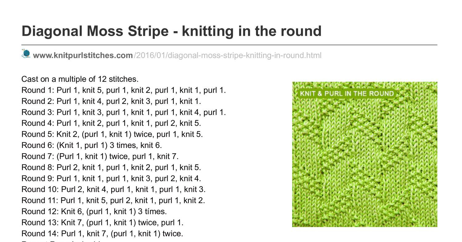 knitpurlstitches.com-Diagonal Moss Stripe - knitting in the round.pdf - DocDroid