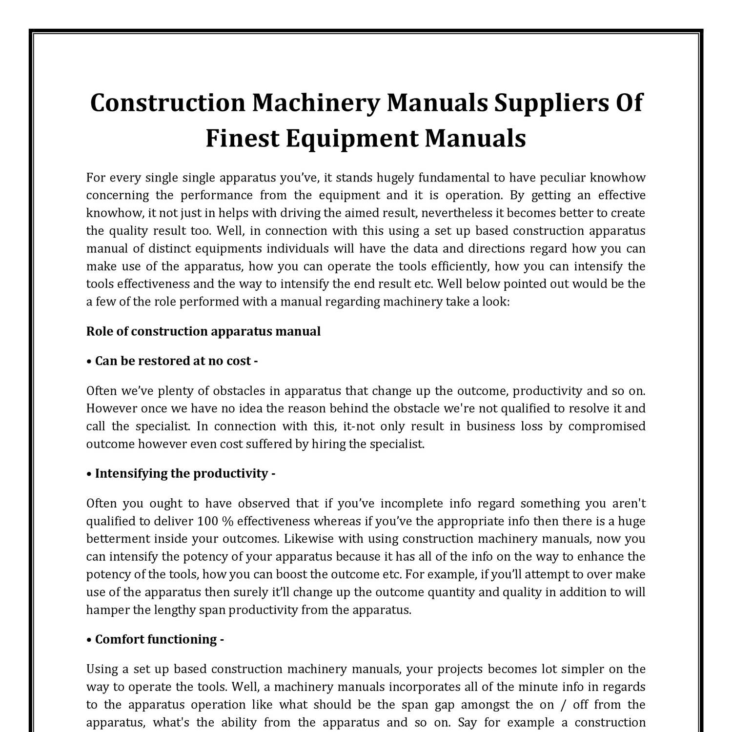 Construction Machinery Manuals.pdf | DocDroid