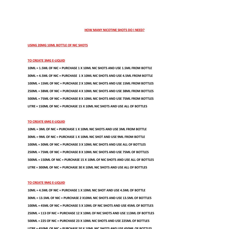 NICOTINE SHOT CALCULATOR docx   DocDroid