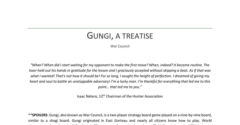 Gungi Pdf Docdroid Der könig hat den champion von schach, shogi und go besiegt, jetzt bleibt nur noch der champion von gungi. gungi pdf docdroid
