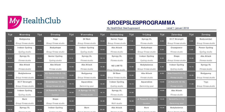 1801_groepslesrooster My HealthClub Heerhugowaard.pdf