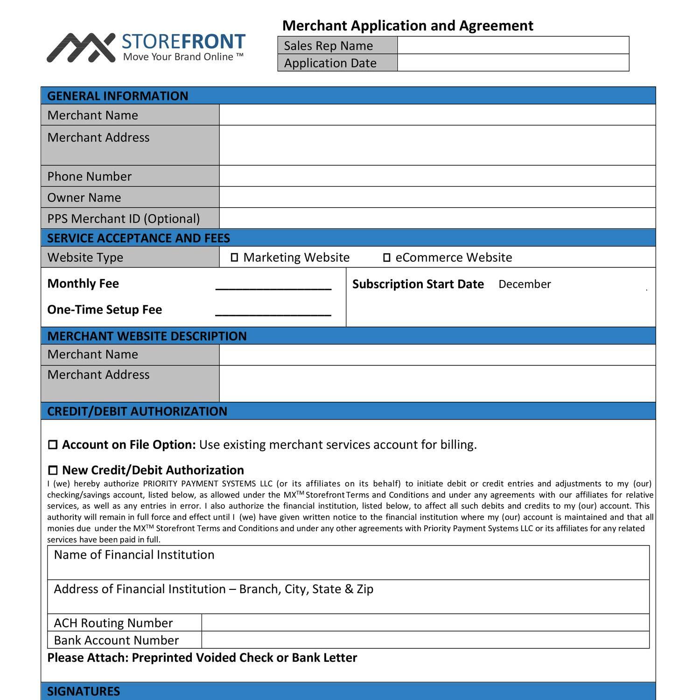 Merchant Application Agreementpdf Docdroid