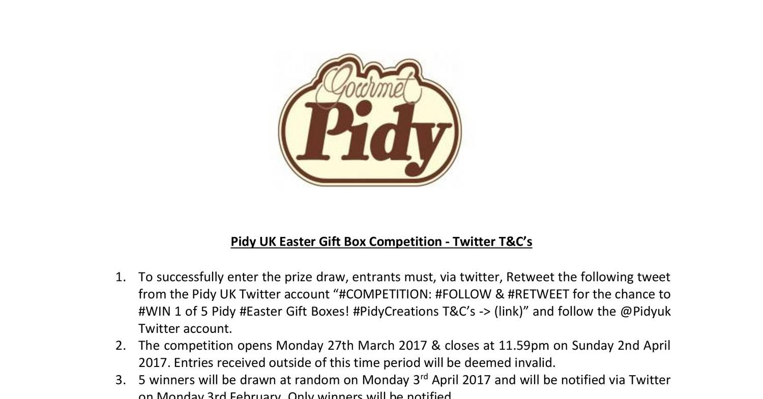 Pidy uk easter gift box competition twittercx docdroid negle Choice Image