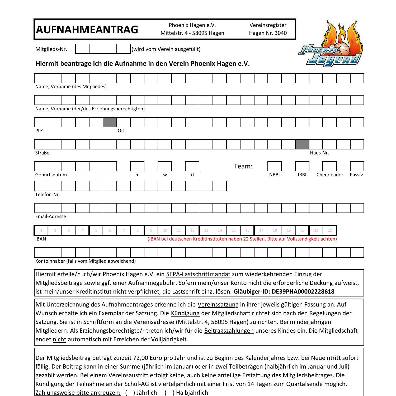 Mitgliedschaft pdf kündigung verein Kündigung Mitgliedschaftsvertrag