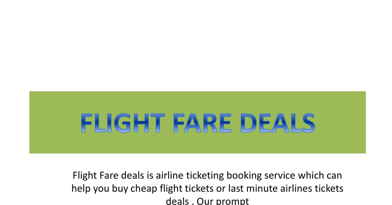 Flight deals error fares