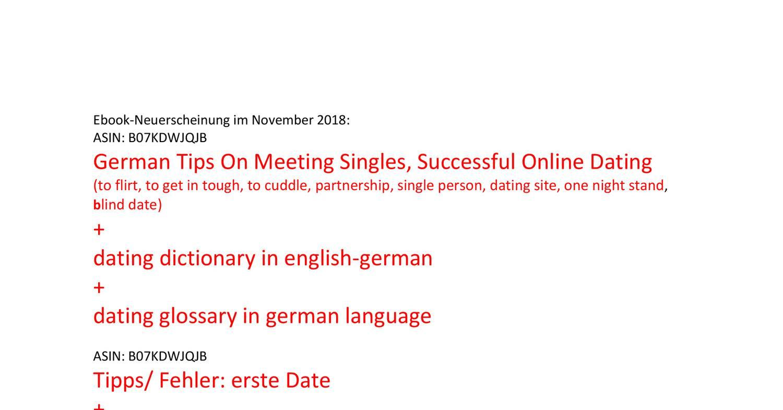 Deutschland Dating-Website Englisch