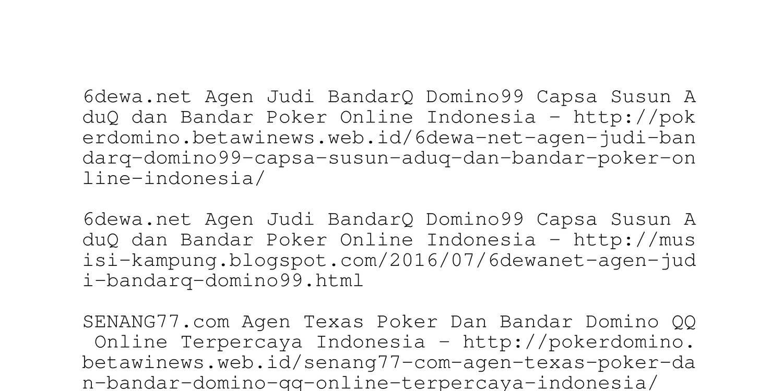 6dewa Net Agen Judi Bandarq Domino99 Capsa Susun Aduq Dan Bandar Poker Online Indonesia Pdf Docdroid