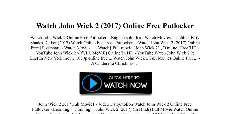 Watch John Wick 2 2017 Online Free Putlockerpdf Docdroid