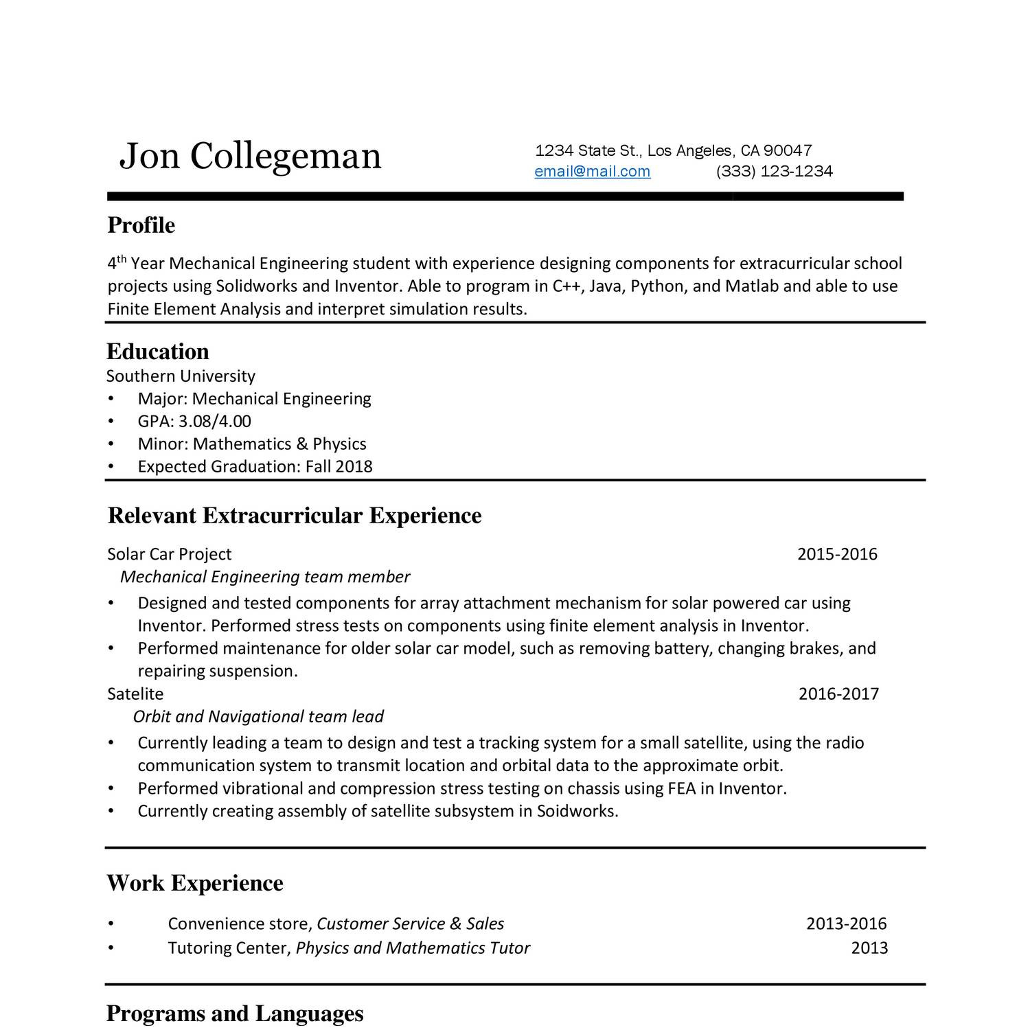 Fake Experience On Resume Fake Experience In Resume Resume For