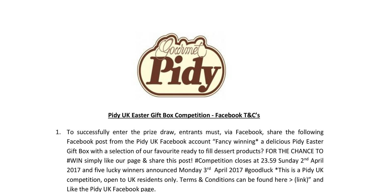 Pidy uk easter gift box competition facebookcx docdroid negle Images