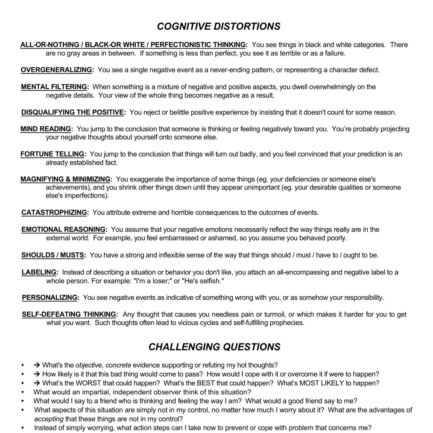 Worksheets Cognitive Restructuring Worksheet cognitive restructuring worksheets pdf docdroid