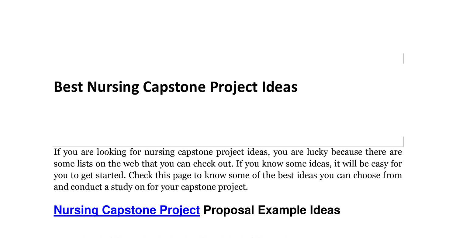 Capstone Proposal Template Capstone Proposal Template Image