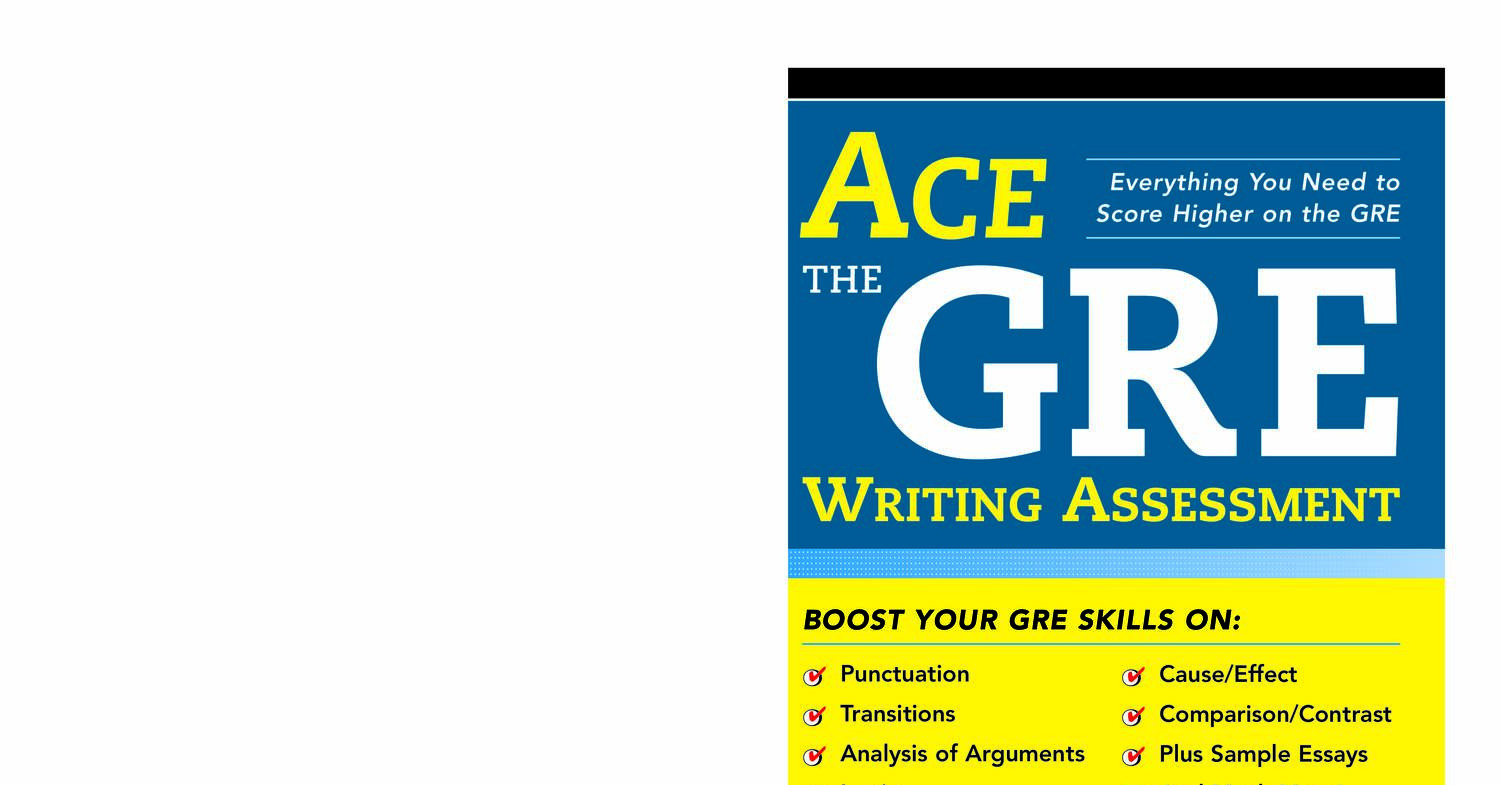 Ace Writing Assessment Timothy Avants
