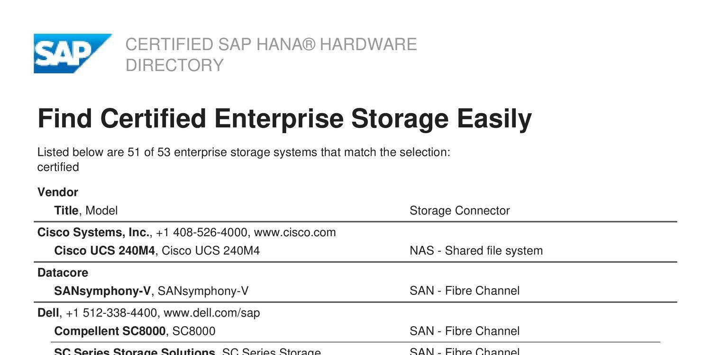 Sap hana certified enterprise storagepdf docdroid xflitez Gallery