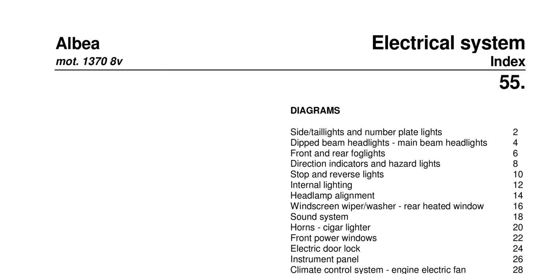 Fiat Albea 14 8v Electrical Systempdf Docdroid Engine Diagrams