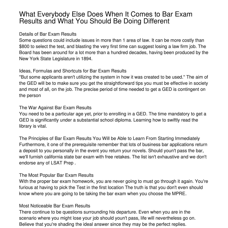 York Bar Exam Results - MuzicaDL