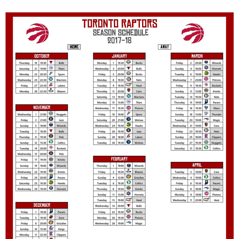 2017-18 Raptors Schedule - Times.pdf - DocDroid