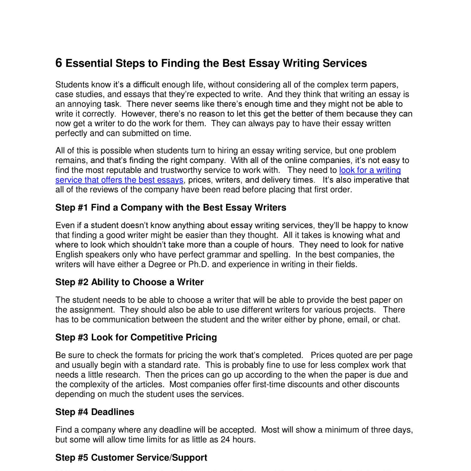 6 steps to writing an essay