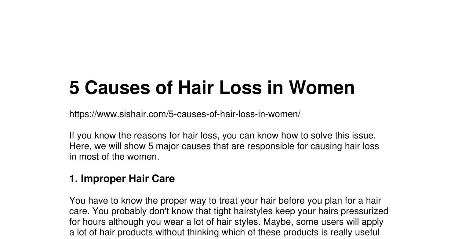 Heres What We Know About Causes Of >> 5 Causes Of Hair Loss In Women Pdf Docdroid