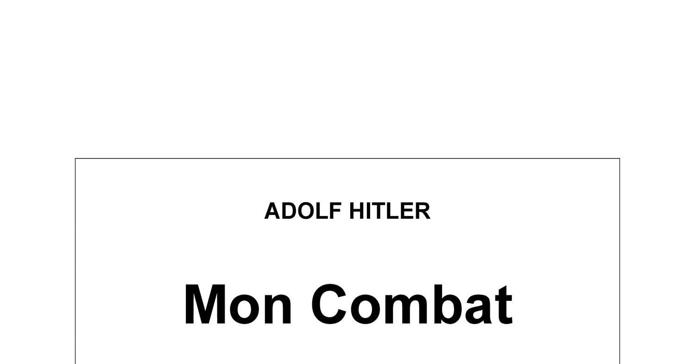Hitler - Mon Combat.pdf - DocDroid